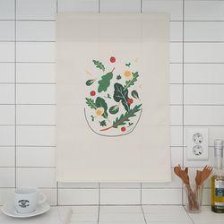 샐러드 일러스트 패브릭 포스터 . 가리개 커튼 (포스터M)