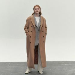 MAXI LONG DOUBLE COAT BEIGE