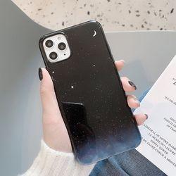 분위기 있는 초승달 우주 밤하늘 젤리 케이스 아이폰