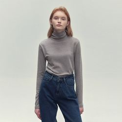 SOLID TURTLENECK T-SHIRTS LIGHT COCOA