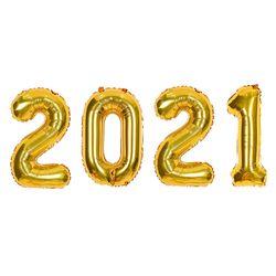 숫자은박세트 중 2021 골드