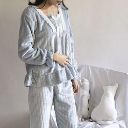 레이스 리본 수면 잠옷 세트 hw-8011c
