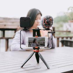 개인방송장비세트 1인 유튜브 촬영조명 마이크 삼각대