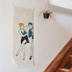 댄스댄스 세로형 패브릭 포스터 . 바란스커튼