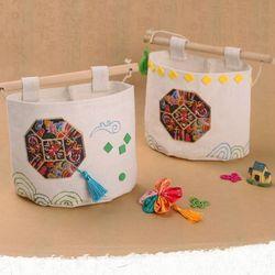 전통에코걸이만들기(4개)수납걸이미술재료자수모양