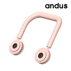 앤드어스 넥밴드 선풍기 핑크
