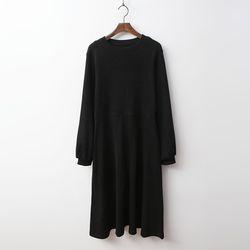 Gimo Flare Puff Long Dress - 기모안감