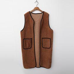 Teddy Bear Pocket Long Vest