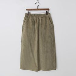 Corduroy Easy Long Skirt