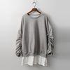 Gimo String Long Sweatshirt - 기모안감