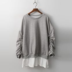 Gimo String Long Sweatshirt - 기모안감