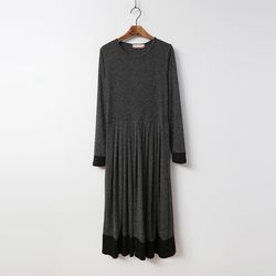 Winter Easy Pleats Long Dress