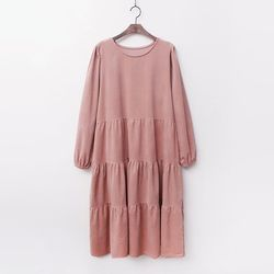 Corduroy Cancan Long Dress