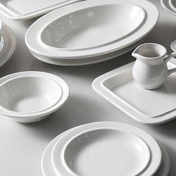 시라쿠스 메이플 화이트 접시 그릇
