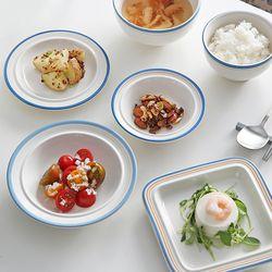 시라쿠스 메이플 코지라인 블루 접시 그릇
