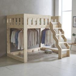 아이모 계단형 원목 벙커 침대 Q