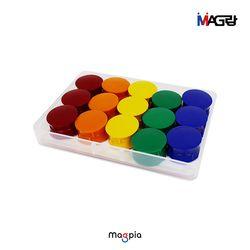 칼라 원형 자석홀더 (중) 30개입 (색상선택)