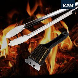 [카즈미] BBQ 숯집게+브러쉬 set K5T3G008