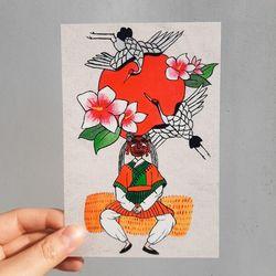 미인도 시리즈 한국 전통 엽서