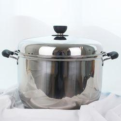 키친아트 지벤 3중코팅 대형곰솥 28cm 들통 찜솥 냄비