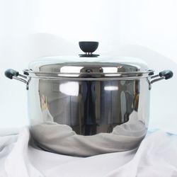 키친아트 지벤 3중코팅 대형곰솥 30cm 들통 찜솥 냄비