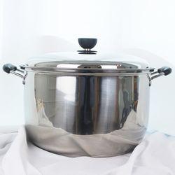 키친아트 지벤 3중코팅 대형곰솥 32cm 들통 찜솥 냄비