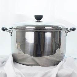 키친아트 지벤 3중코팅 대형곰솥 34cm 들통 찜솥 냄비
