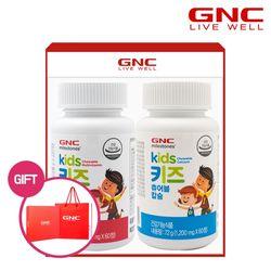 [무료배송] GNC 키즈 츄어블세트(멀티비타민+칼슘)