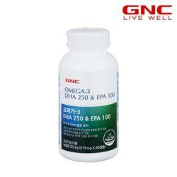 [무료배송] GNC 오메가3 DHA 250 & EPA 100 (60캡슐) 1개월분