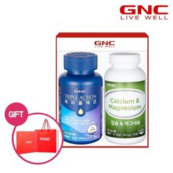 [무료배송] GNC 트리플액션 + 칼슘 앤 마그네슘 세트
