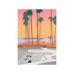 LOS ANGELES LANDMARK 50900350 리모와 스티커