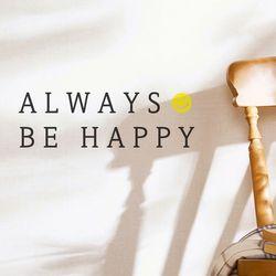 always be happy 감성 레터링 스티커 small