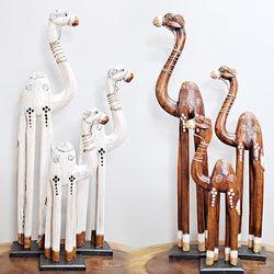 Y1010620 목각 낙타 장식품 3p (2color)