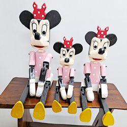 Y10106235 목각 마우스 관절인형 장식품 1p (소)