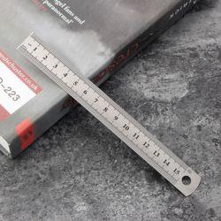 양면 눈금 재단 제도용 스틸자(15cm)