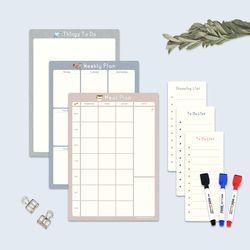 (3종세트) 냉장고 메모보드 A4 컬러파레트 보드마커 구성