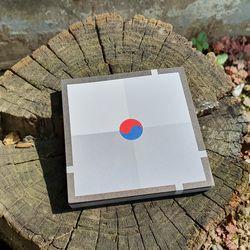 태극기 심플 4색 패턴 디자인 메모지
