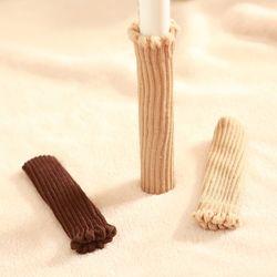 소음방지 털 뜨개질 의자 발 커버 4개세트