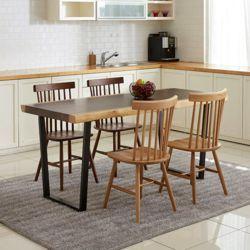 세츠티 우드슬랩 투톤 식탁테이블 1600