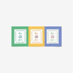 포유 스탬프 스티커(3장 낱개로 9개)