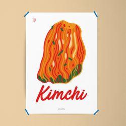 김치 2종 택1 M 유니크 디자인 포스터 한식 식당 A3(중형)