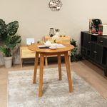 이스테지아 원목 원형 테이블 800