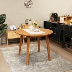 이스테지아 원목 원형 테이블 1000