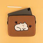 자수 포켓 노트북파우치 고양이 이해하기 (15인치)