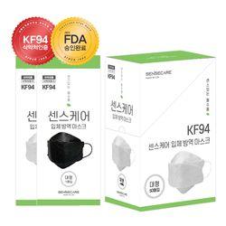 국산 KF94 대형 센스케어 방역 마스크 개별포장 50매입
