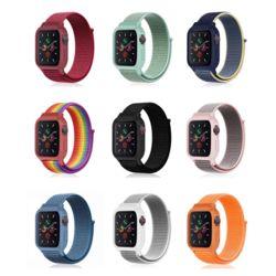 애플워치 6 5 4 3 2 스포츠 케이스 나일론밴드 시계줄