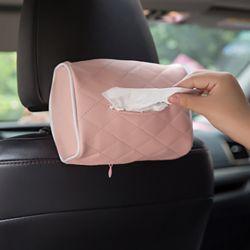 차량용 걸이식 티슈케이스(핑크)