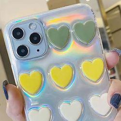 아이폰8플러스 하트 쿠션 홀로그램 젤리 케이스 P570