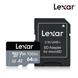 렉사 공식판매원 microSD카드 4K 1066배속 64GB
