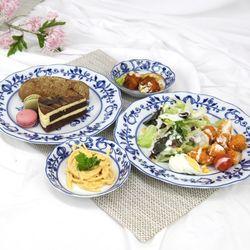 폴란드그릇 쯔비벨무스터 포슬린 접시찬기 디너세트4P